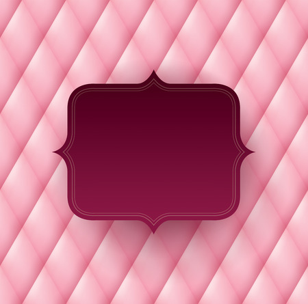 diamond background: Vintage frame on pink background.