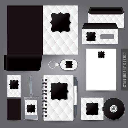notebook cover: Stationery set design  Corporate identity design. Illustration