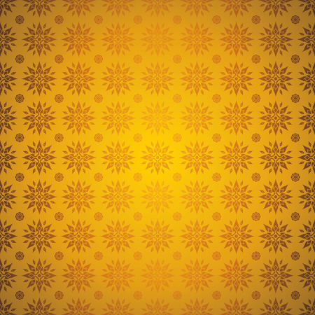 asian art: Asian art background, Gold color background. Illustration