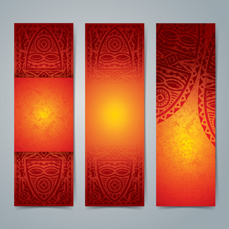 africa: Collection banner design, African art background