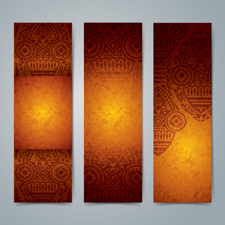 Collection banner design, African art background