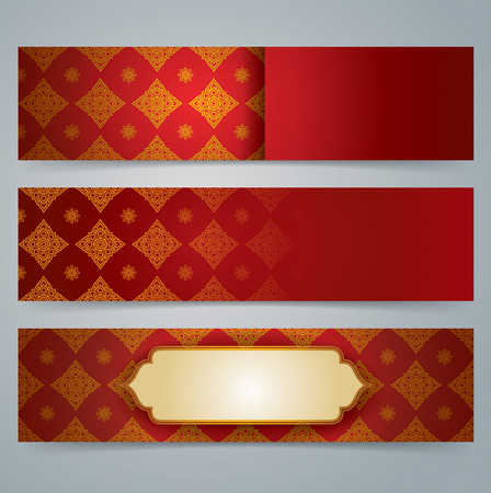 asian art: Collection banner design, Asian art background.