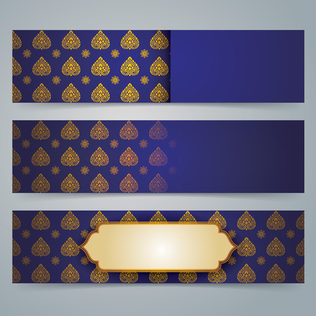 asian art: Collection banner design, Asian art background.