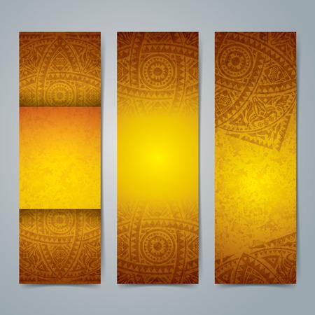 ilustraciones africanas: Dise�o de banners Colecci�n, arte africano fondo