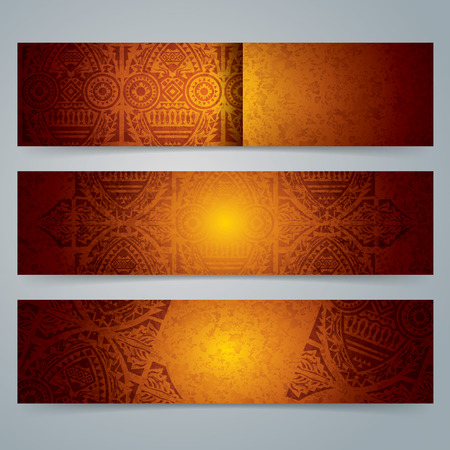 brown background texture: Collection banner design, African art background