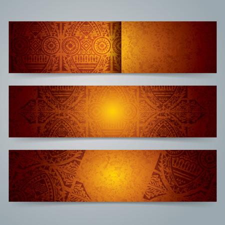 Verzameling banner ontwerp, Afrikaanse kunst achtergrond