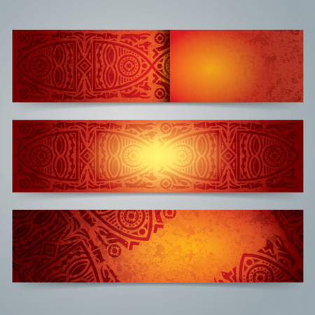 african art: Collection banner design, African art background