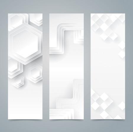 Collection banner design, white background. Illustration