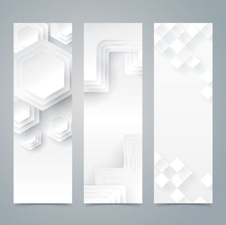 Verzameling banner ontwerp, witte achtergrond.
