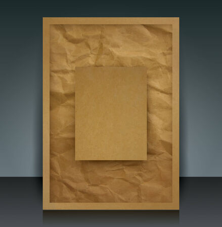 catalog background: Brown paper vector brochure cover  booklet cover design template.