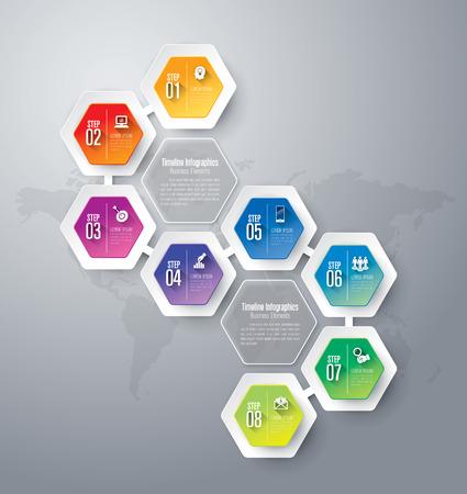 Abstract 3D digital illustration Infographics.  イラスト・ベクター素材