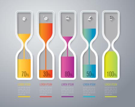 Abstract 3D digital illustration Infographics. Stock Illustratie