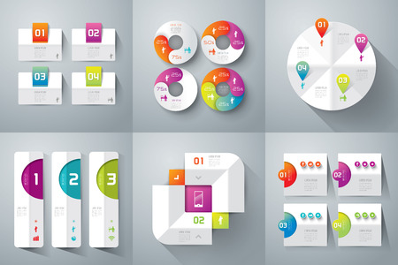 information technology icons: Abstract 3D digital illustration Infographics. Illustration