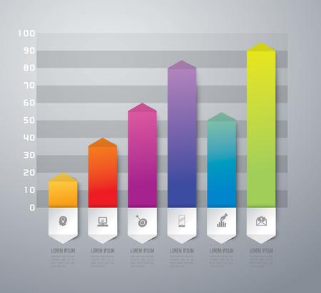 graph paper background: Abstract 3D digital illustration Infographics. Illustration
