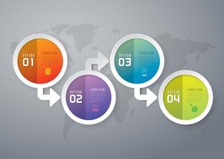 arrow circle diagram: Abstract 3D digital illustration Infographics. Illustration
