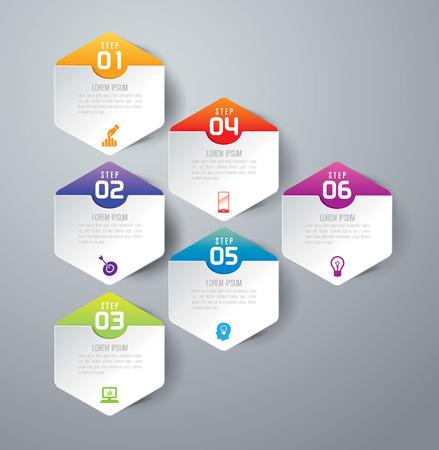インフォ グラフィック ベクトル デザイン テンプレートです。
