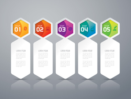 graphic presentation: Infographics vector design template.