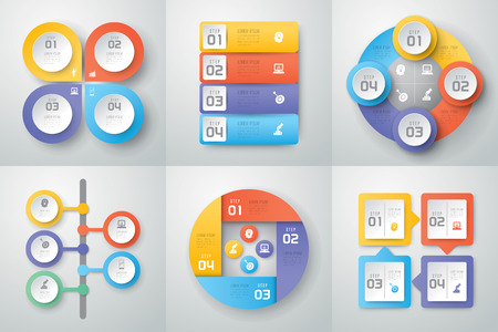 charts: Infographics vector design template.