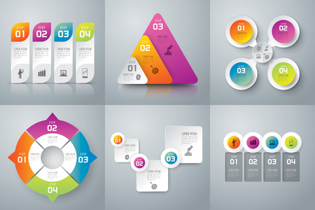 steps to success: Infographics vector design template.