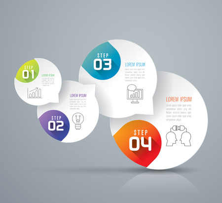 3d circle: Infographics vector design template.