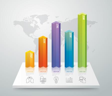 Infografik Vektor-Design-Vorlage. Standard-Bild - 37601065