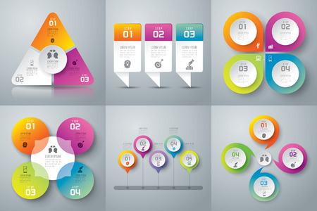 information graphics: Infographics vector design template.