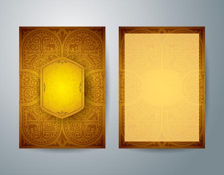 Afrikaanse kunst brochure flyer ontwerp vector sjabloon. Stock Illustratie