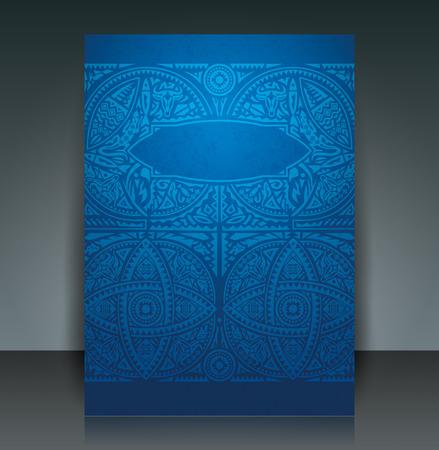 tarjeta de invitacion: África folleto arte plantilla de diseño flyer vector.
