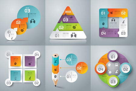 steps: Infographics vector design template.