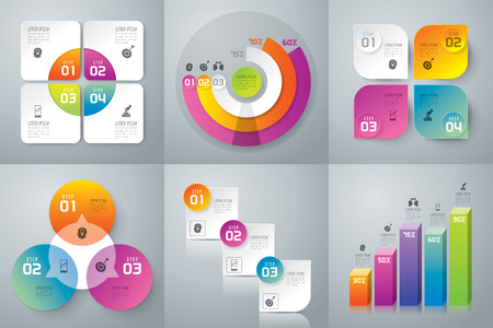of computer graphics: Infographics vector design template.