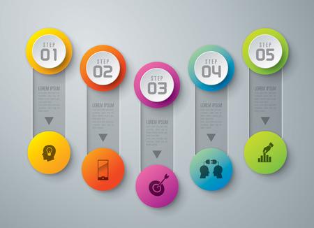 targets: Infographics vector design template.