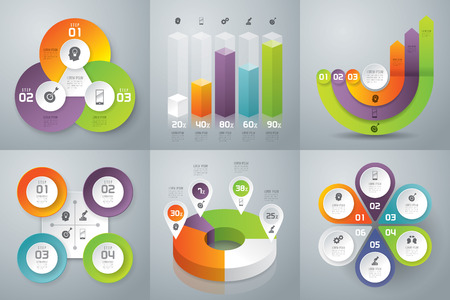 graph: Infographics vector design template.