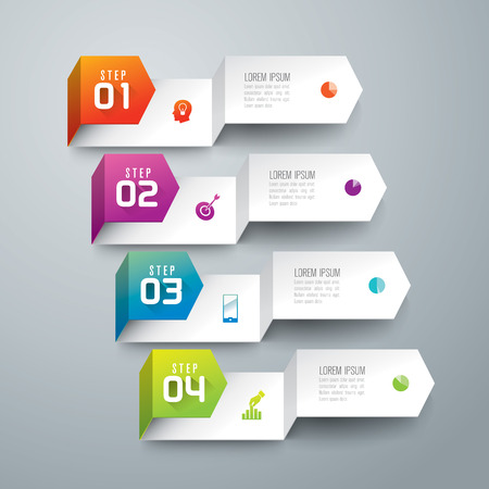 4: Infographic design template and marketing icons. Illustration
