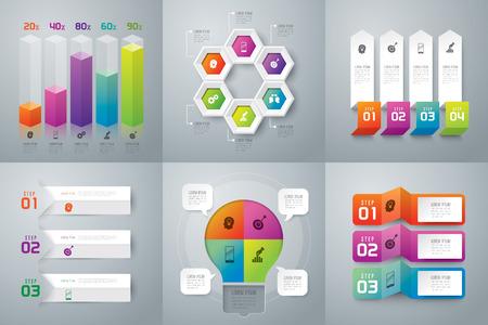 empleos: Infografía plantilla de diseño y comercialización de iconos.