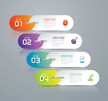 Infographic design template and marketing icons. Vettoriali