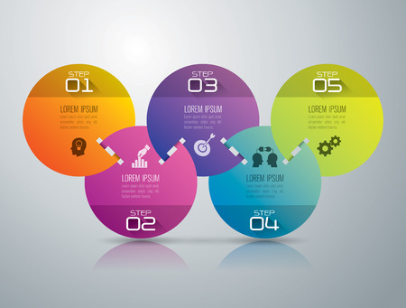 5: Infographic design template and marketing icons. Illustration
