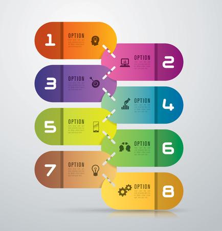 Infografisch ontwerp sjabloon en marketing iconen.