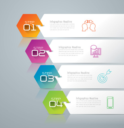 idea icon: Infographic design template and marketing icons. Illustration