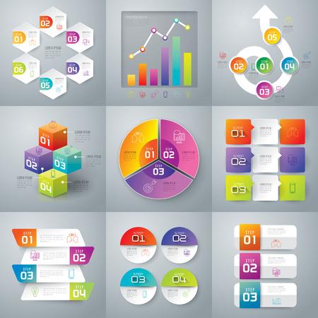 Infographic Design-Vorlage und Marketing-Ikonen.