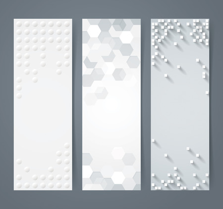 vector banners or headers: Collection of geometric background banner.