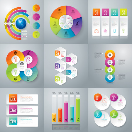 process chart: Infographic design vector.