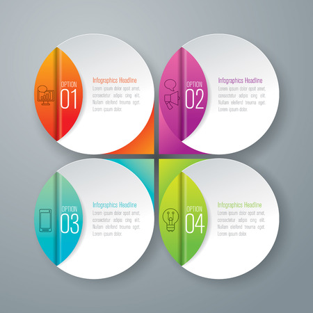 marketing strategy: Infographic design vector.