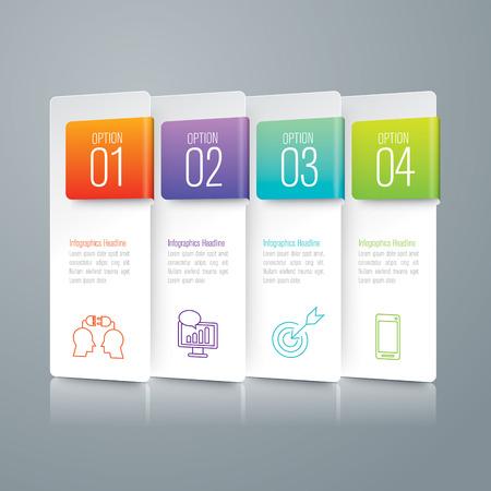 trabajo en equipo: Vector de diseño Infografía. Vectores