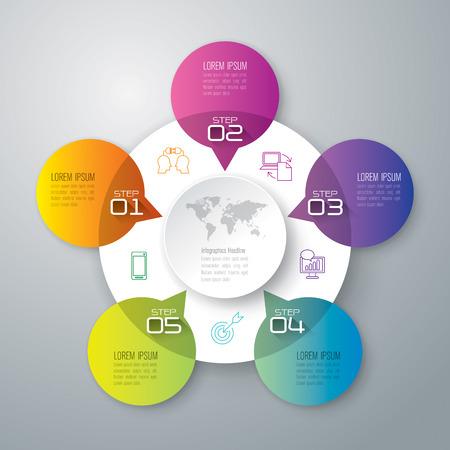 Infografía plantilla de diseño y comercialización de iconos. Foto de archivo - 41238973