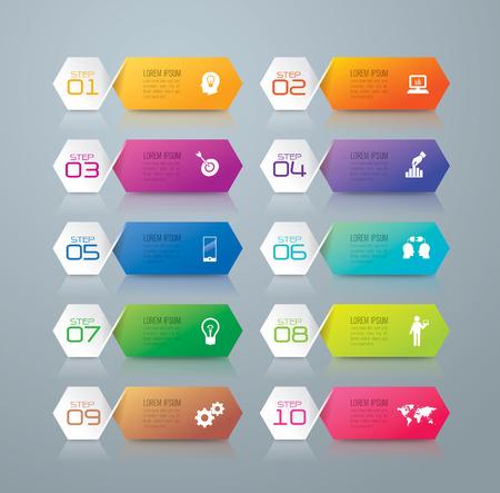 Infographic Design-Vorlage und Marketing-Ikonen. Standard-Bild - 41238975