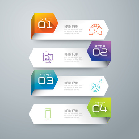 인포 그래픽 디자인 템플릿 및 마케팅 아이콘. 일러스트