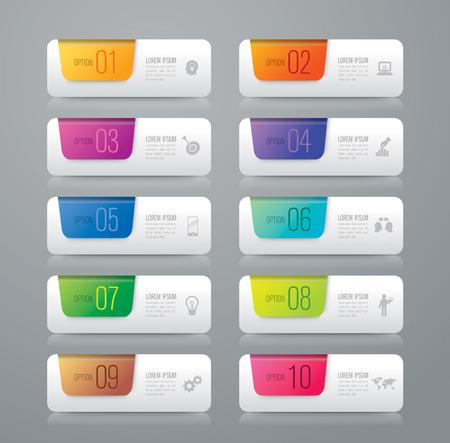 numero diez: Infograf�a plantilla de dise�o y comercializaci�n de iconos.