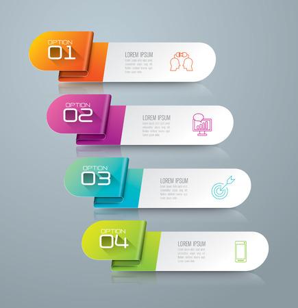Infographic Design-Vorlage und Marketing-Ikonen. Standard-Bild - 41390407