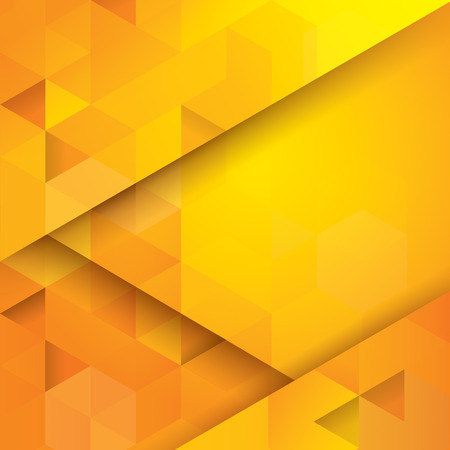 triangle background: Yellow abstract background vector.