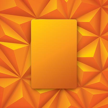 Gele abstracte achtergrond vector. Stock Illustratie